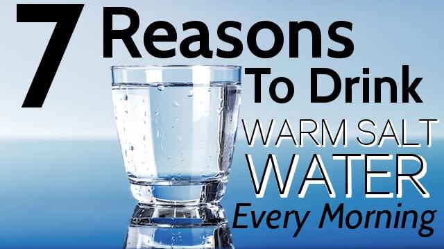drink warm salt water