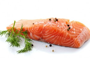 fresh raw salmon
