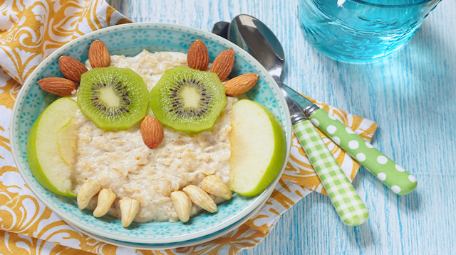 Kids breakfast porridge