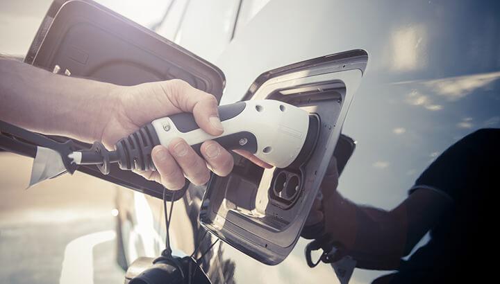 electric car plug in