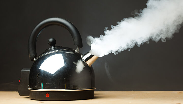 boiling water neti pot