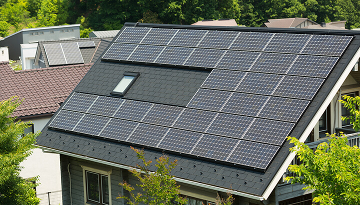 Be eco-friendly with solar panels