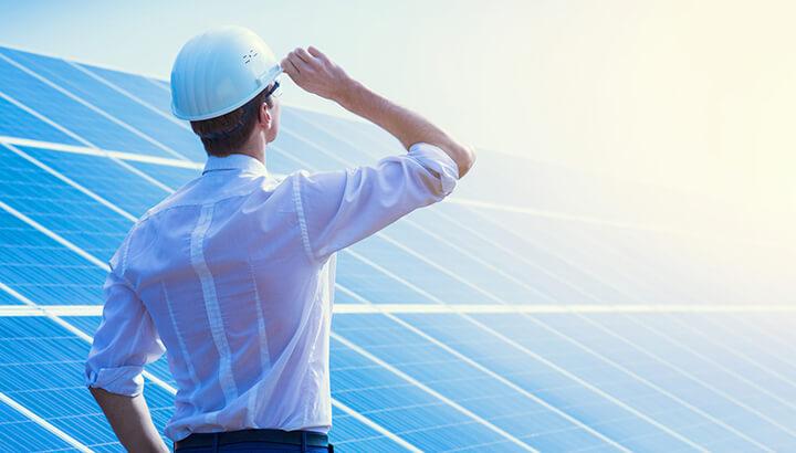Green company solar panels
