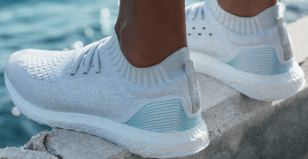 Shoes made from ocean plastic