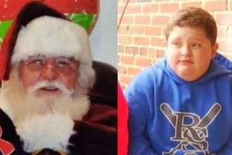 Kid fat-shamed by santa