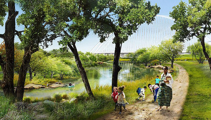 Artist rendering of the park. (Photo Courtesy: Michael Van Valkenburgh Associates)