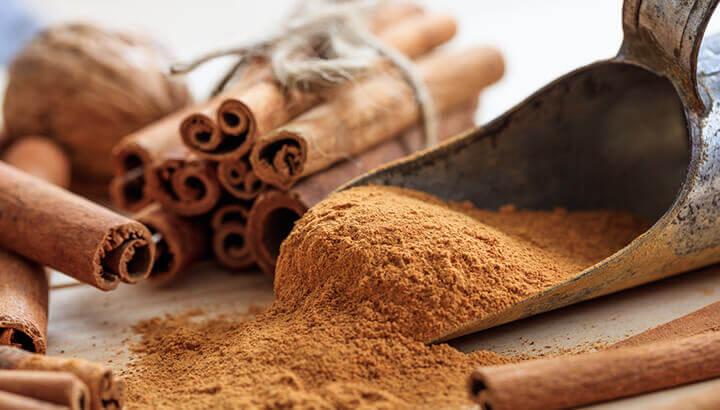 Add cinnamon to coffee