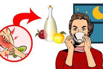Drink apple cider vinegar at night for health benefits