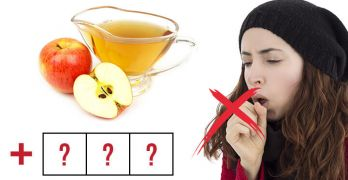 Homemade cough remedy with apple cider vinegar