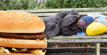 McDonalds giving cheeseburgers to homeless people
