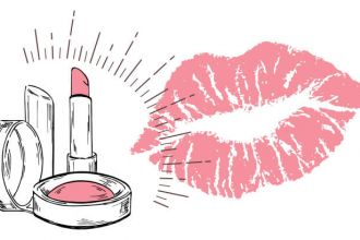Tinted lip balm from natural ingredients