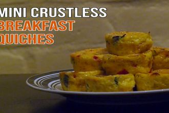 Crustless breakfast quiche recipe