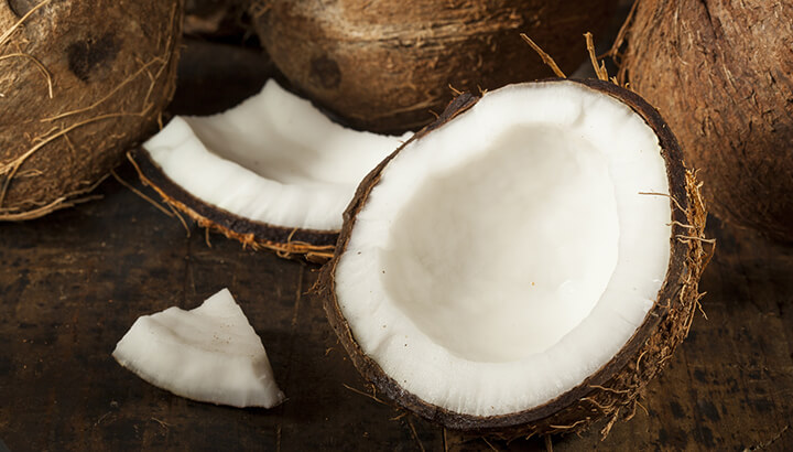 Raw foods like coconut are high in protein, iron, folate and more.