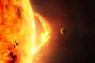 A solar flare is one space event that could wipe out humanity
