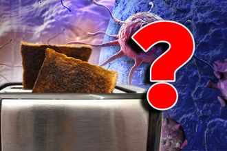 Burnt toast contains acrylamide, which is linked to cancer and cell damage