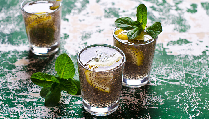 Chia seeds, lemon, honey and cayenne are a healthy way to spice up your water