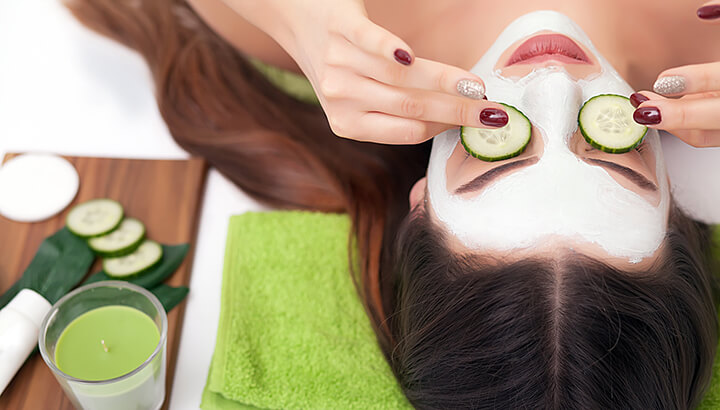 Cucumbers can help moisturize the skin around your eyes.