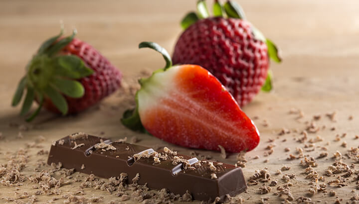 Dark chocolate contains more antioxidants than strawberries.