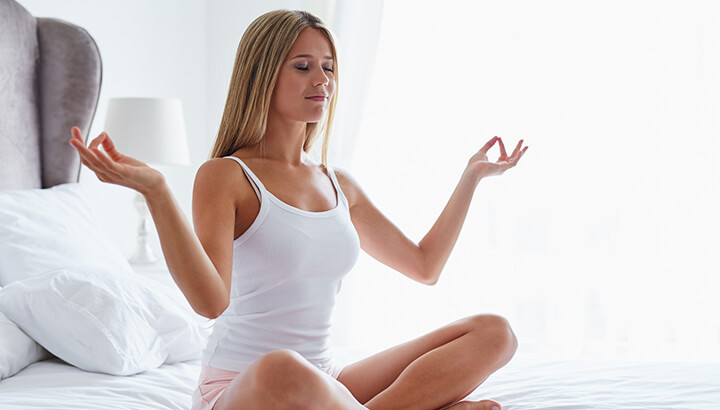 Make sure to meditate before bed to promote a healthy sleep cycle.