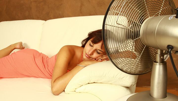 If you have trouble with sleep, adjust the airflow