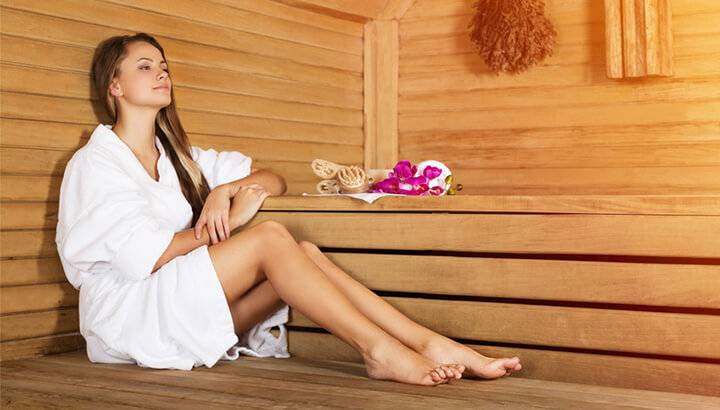 Sweat out heavy metals in the sauna regularly.